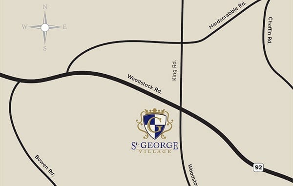 St George Village Map