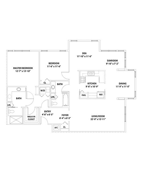 Mayfair Lakeside Floor Plan