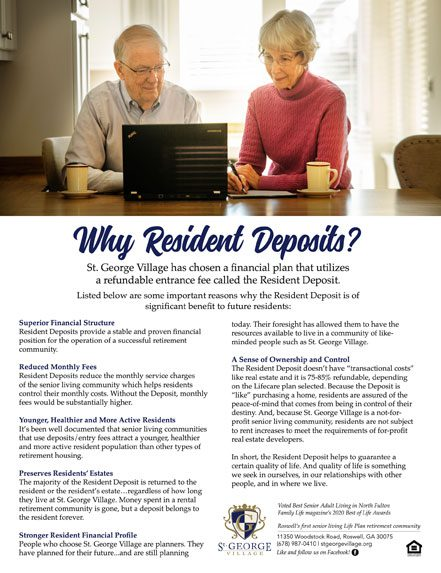 why resident deposits
